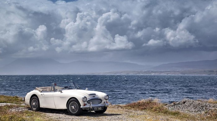 1965 Austin Healey 3000 on Goat's Trail Bantry Bay Ireland