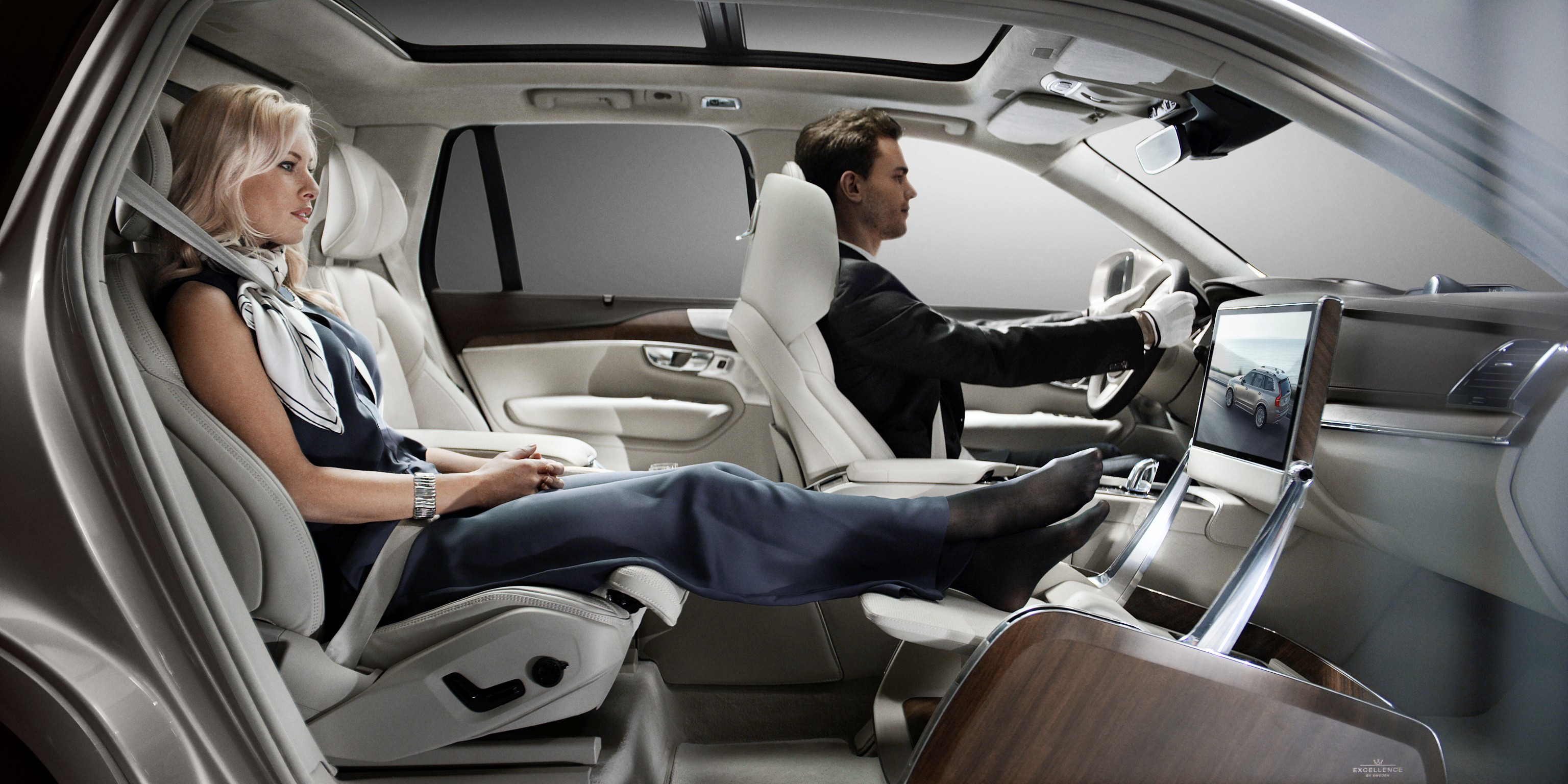 The removal of the front passenger seat allows for full forward vision creating a uniquely spacious environment.
